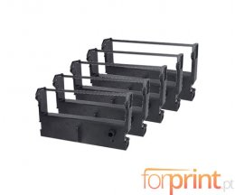 5 Compatible Tapes, Epson ERC-39BK Black