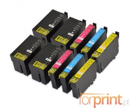 10 Compatible Ink Cartridges, Epson T2701-T2704 / T2711-T2714 Black 22.4ml + Color 15ml