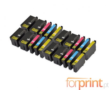 20 Compatible Ink Cartridges, Epson T2701-T2704 / T2711-T2714 Black 22.4ml + Color 15ml