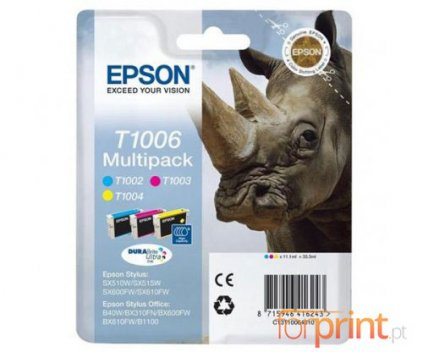 3 Original Ink Cartridges, Epson T1002-T1004 Color 11.1ml