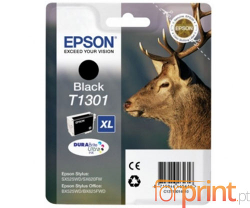 Original Ink Cartridge Epson T1301 Black 25ml ~ 945 Pages