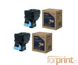 2 Original Toners, Epson S050593 Black ~ 6.000 Pages