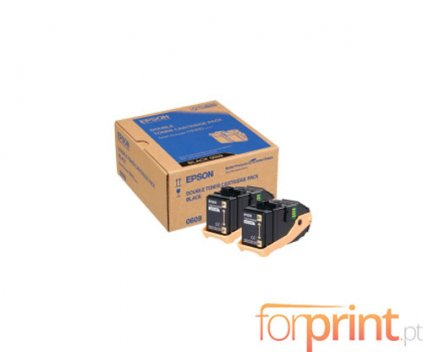 2 Original Toners, Epson S050609 Black ~ 6.500 Pages