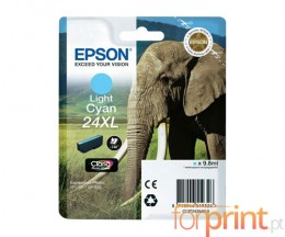 Original Ink Cartridge Epson T2435 / 24 Cyan bright 9.8ml