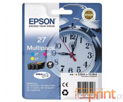 3 Original Ink Cartridges, Epson T2705 Color 3.6ml