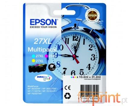 3 Original Ink Cartridges, Epson T2715 Color 10.4ml