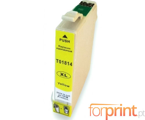 Compatible Ink Cartridge Epson T1804 / T1814 Yellow 13ml