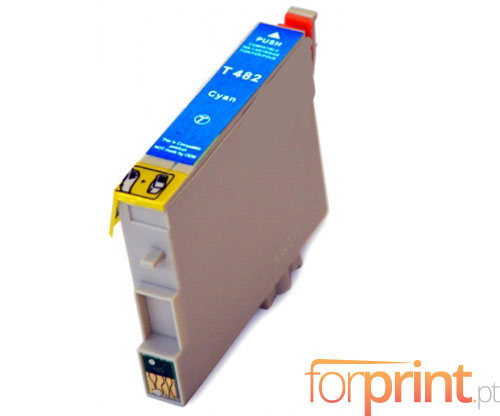 Compatible Ink Cartridge Epson T0482 Cyan 18ml