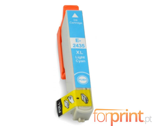 Compatible Ink Cartridge Epson T2425 / T2435 Cyan bright 13ml