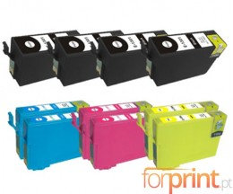 10 Compatible Ink Cartridges, Epson T1301-T1304 Black 33ml + Color 14ml