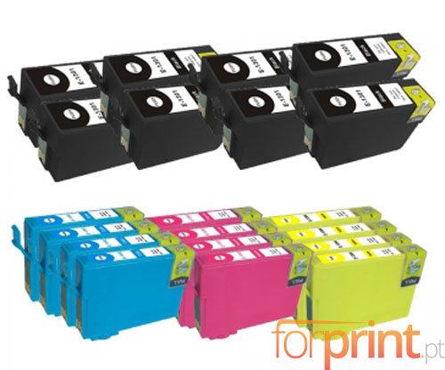 20 Compatible Ink Cartridges, Epson T1301-T1304 Black 33ml + Color 14ml
