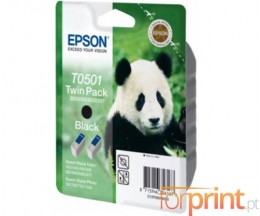 2 Original Ink Cartridges, Epson T0501 Black 15ml