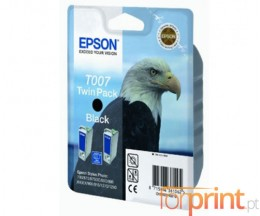 2 Original Ink Cartridges, Epson T007 Black 16ml