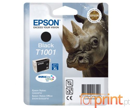 Original Ink Cartridge Epson T1001 Black 25.9ml ~ 1.035 Pages