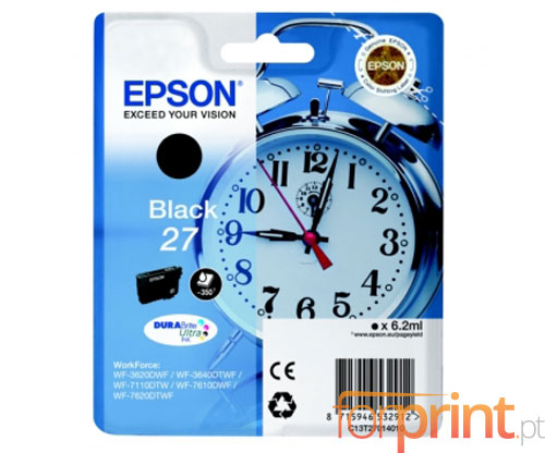 Original Ink Cartridge Epson T2701 / 27 Black 6.2ml