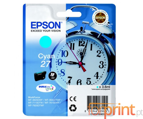 Original Ink Cartridge Epson T2702 / 27 Cyan 3.6ml