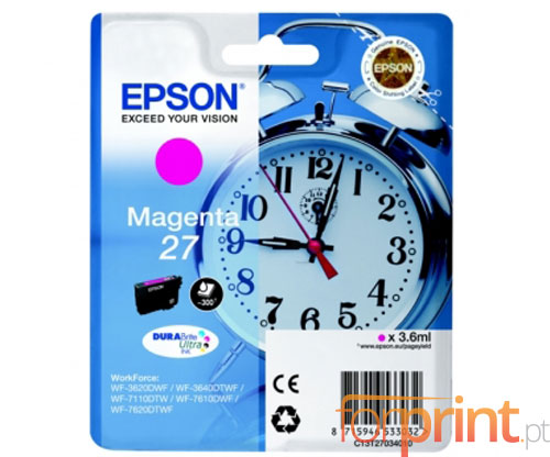 Original Ink Cartridge Epson T2703 / 27 Magenta 3.6ml
