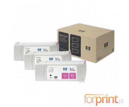3 Original Ink Cartridges, HP 81 Magenta 680ml