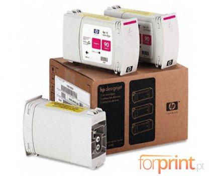 3 Original Ink Cartridges, HP 90 Magenta 400ml