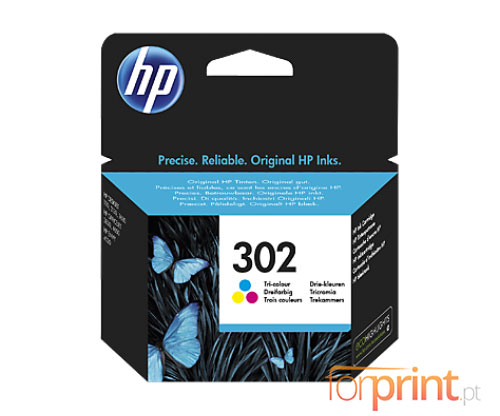 Original Ink Cartridge HP 302 Color 4ml ~ 165 Pages