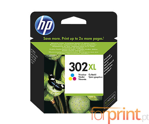 Original Ink Cartridge HP 302 XL Color 8ml ~ 330 Pages