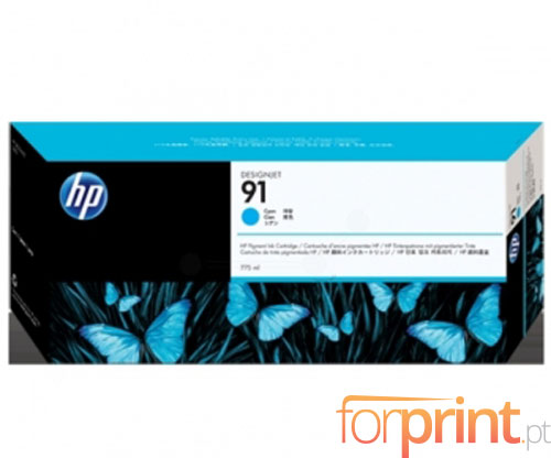 Original Ink Cartridge HP 91 Cyan 775ml