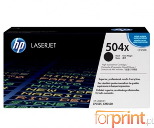 Original Toner HP 504X Black ~ 10.500 Pages
