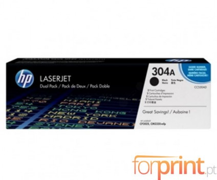 2 Original Toners, HP 304A Black ~ 3.500 Pages