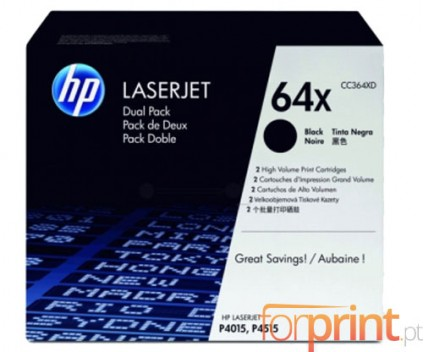 2 Original Toners, HP 64X Black ~ 24.000 Pages