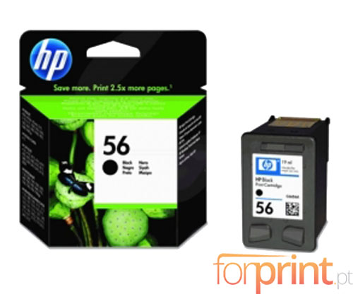Original Ink Cartridge HP 56 Black 19ml ~ 520 Pages