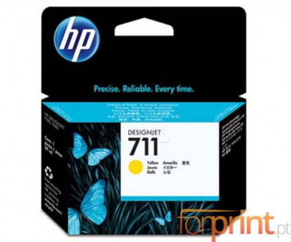 3 Original Ink Cartridges, HP 711 Yellow 29ml