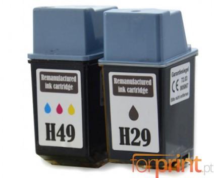 2 Compatible Ink Cartridges, HP 29 Black 39ml + HP 49 Color 21ml