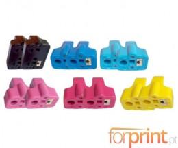 12 Compatible Ink Cartridges, HP 363 Black 30ml + Color 10ml