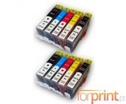 10 Compatible Ink Cartridges, HP 364 XL Black 18.6ml + Color 14.6ml