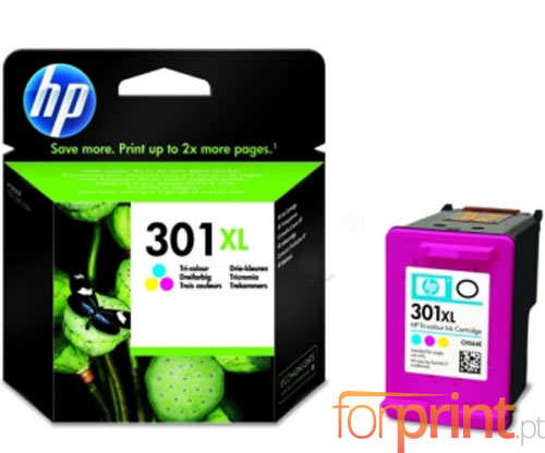 Original Ink Cartridge HP 301 XL Color 6ml ~ 330 Pages