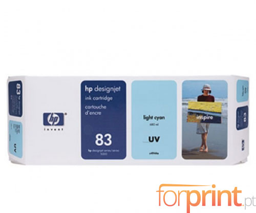 Original Ink Cartridge HP 83 UV Cyan bright 680ml