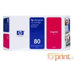 Original Ink Cartridge HP 80 Magenta 175ml ~ 2.200 Pages