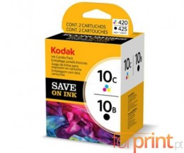 2 Original Ink Cartridges, Kodak 3949948 Black 15ml + Color 60ml ~ 420 Pages