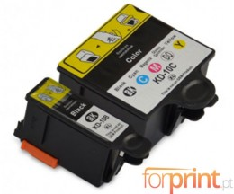 2 Compatible Ink Cartridges, Kodak 3949948 Black 15ml + Color 60ml