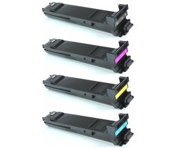 4 Compatible Toner, Konica Minolta A0DKX53 Black + Color ~ 8.000 Pages