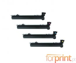 4 Compatible Toners, Konica Minolta A06VX53 Black + Color ~ 12.000 Pages