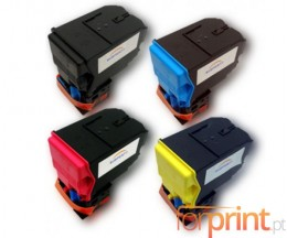 4 Compatible Toners, Konica Minolta A0X5X50 Black + Color ~ 6.000 Pages