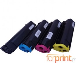 4 Compatible Toners, Konica Minolta 4576X11 Black + Color ~ 4.500 Pages
