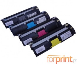 4 Compatible Toners, Konica Minolta A00WX32 Black + Color ~ 4.500 Pages
