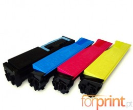 4 Compatible Toners, Kyocera TK 540 Black + Color ~ 6.000 / 5.000 Pages
