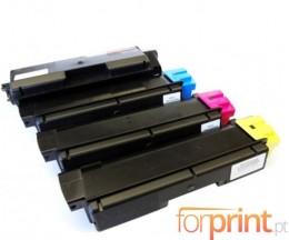 4 Compatible Toners, Kyocera TK 580 Black + Color ~ 4.000 / 3.000 Pages
