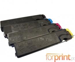 4 Compatible Toners, Kyocera TK 500 Black + Color ~ 8.000 Pages