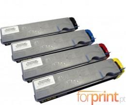 4 Compatible Toners, Kyocera TK 520 Black + Color ~ 6.000 / 4.000 Pages