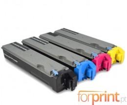 4 Compatible Toners, Kyocera TK 510 Black + Color ~ 8.000 Pages