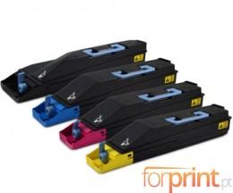4 Compatible Toners, Kyocera TK 855 Black + Color ~ 25.000 / 18.000 Pages